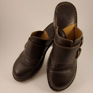 B.OC Born Concept slip on brown with double buckle